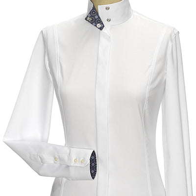 Essex Princess Flora Fitted Style Straight Collar Show Shirt