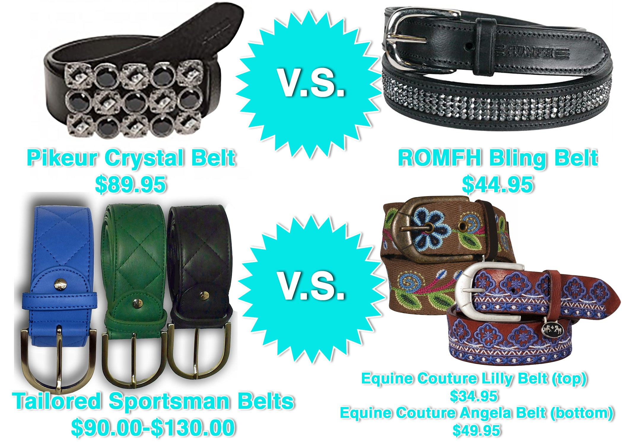Pikeur and Tailored Sporstman belts