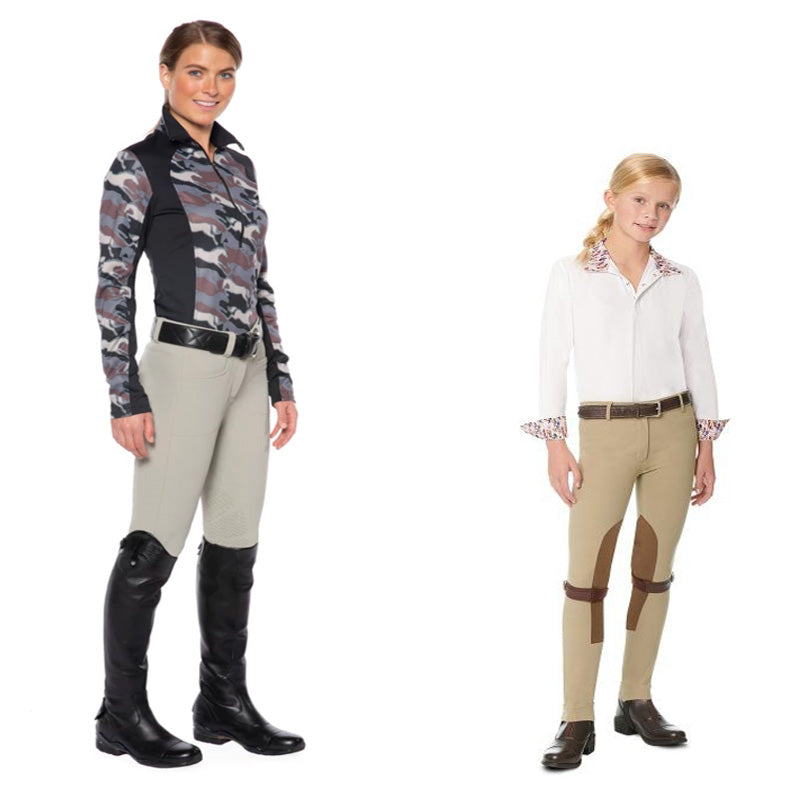 Jodhpurs compared to Breeches