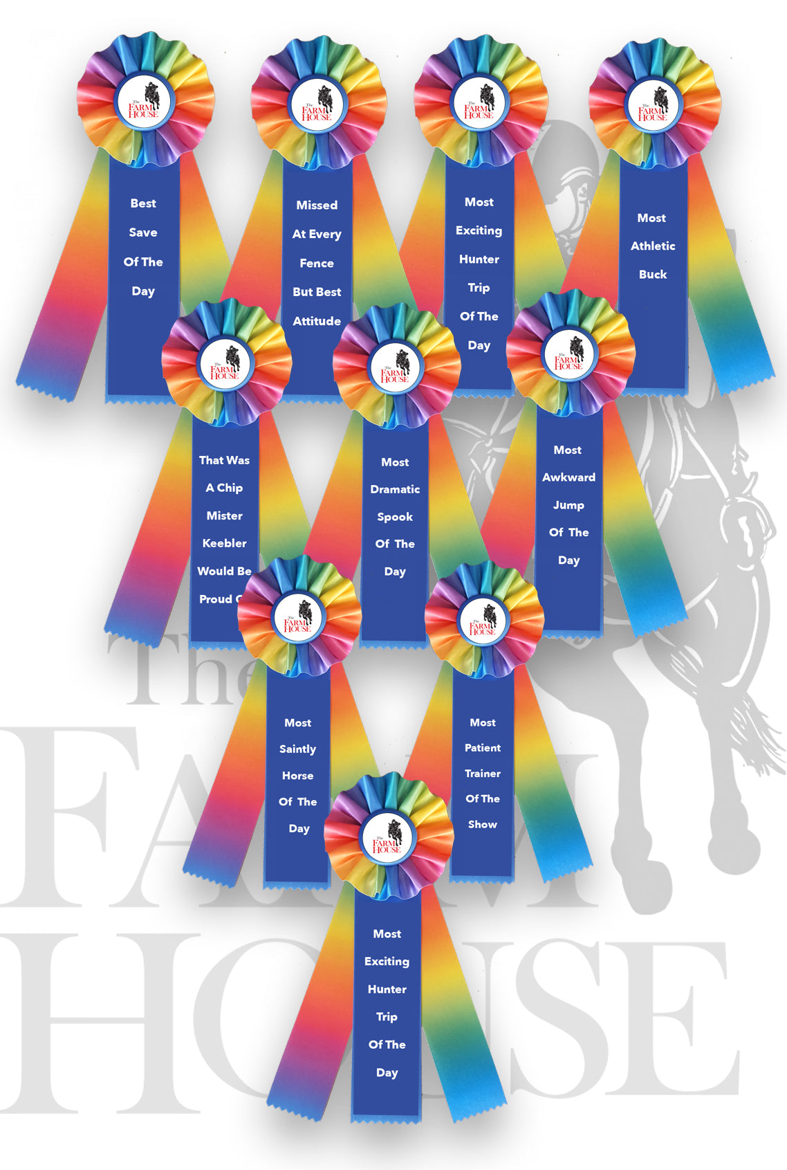 Ribbons for when you fail at horse riding