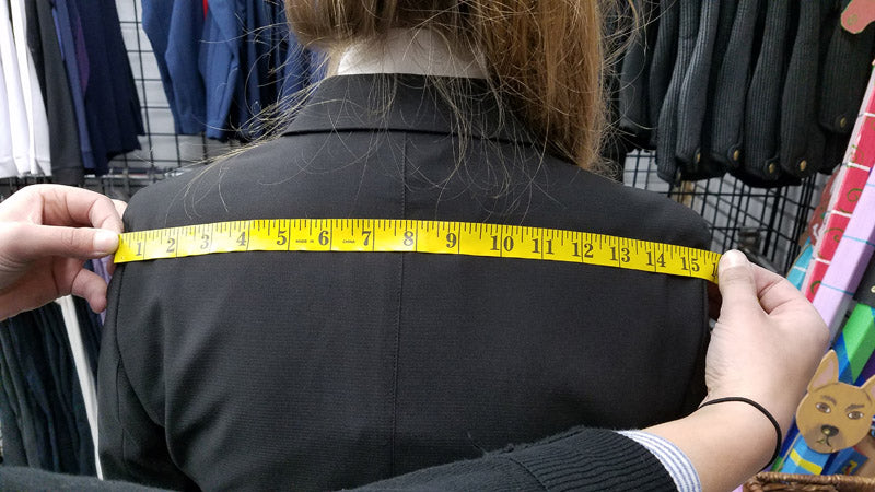 how to measure for a show coat