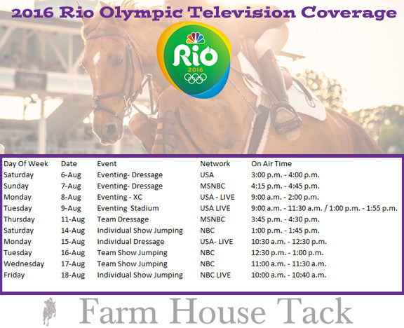 Olympics Equestrian schedule