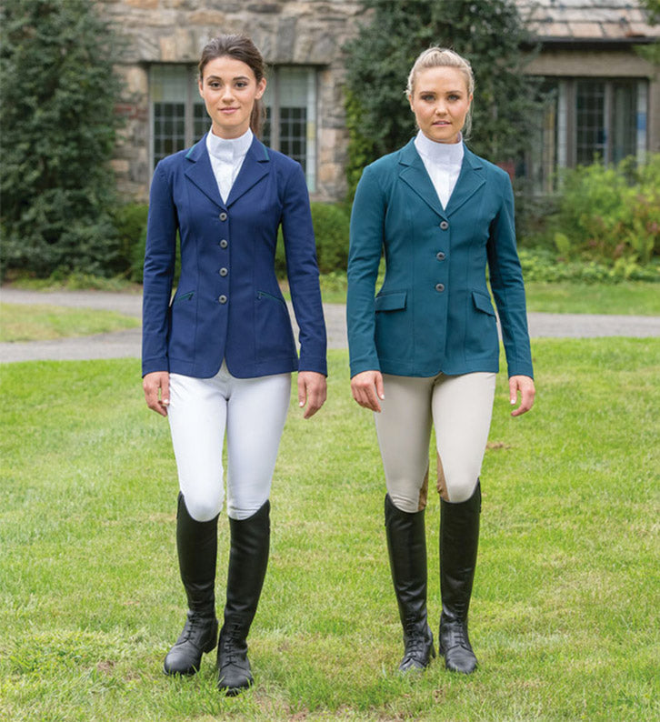 Equestrians in show jackets