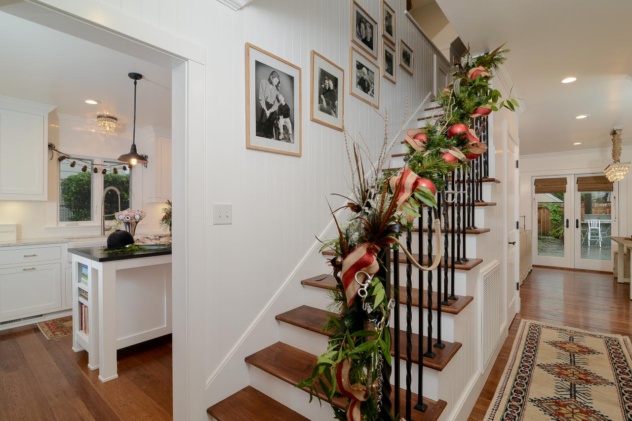 Equestrian holiday stair decor