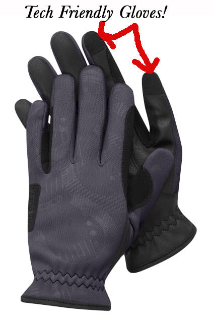 tech friendly riding gloves