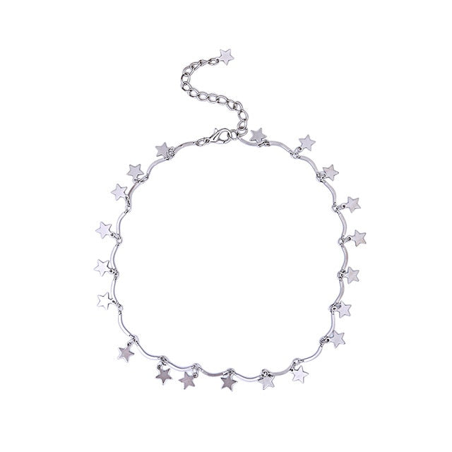 DAINTY STAR CHAIN CHOKER Necklace
