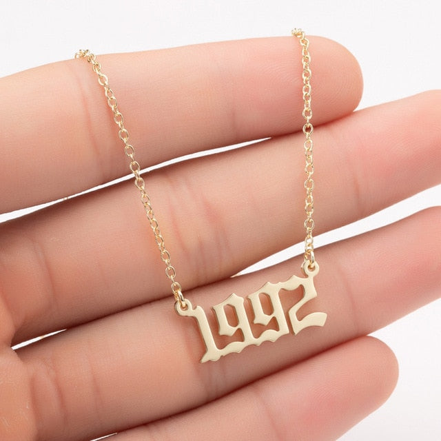 BIRTH YEAR Necklaces 1990-1999