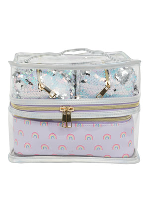 4 PC Travel Case - Lilac Rainbow