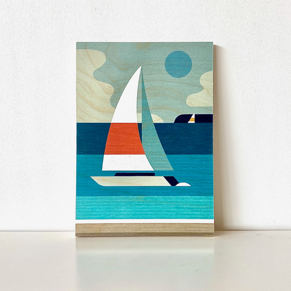 Setting Sail Plywood Art