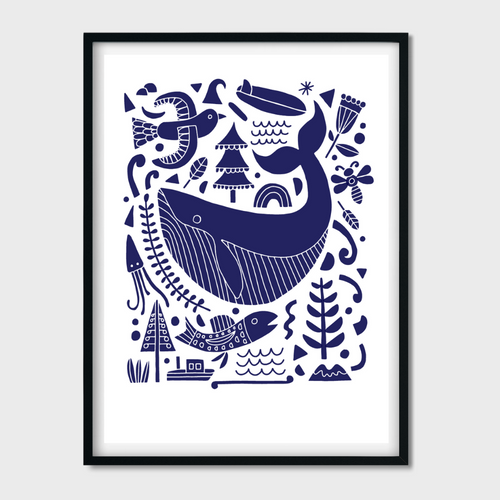 'A Friend of the Sea' Screen Print