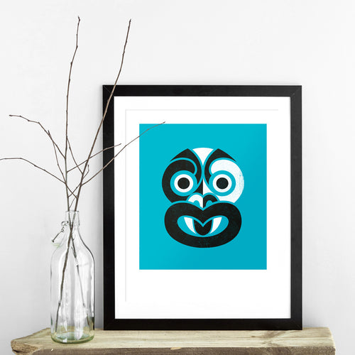 Phantom Tiki Limited Edition Screen Print - Blue