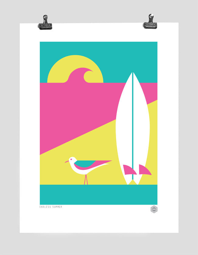 Endless Summer A3 Print (Pink)