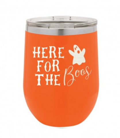 Here For the Boos Orange 12oz Insulated Tumbler