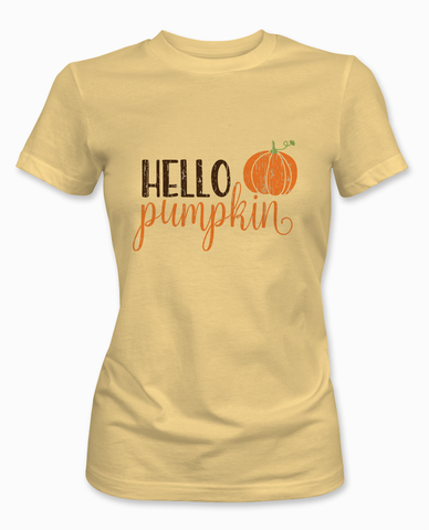 Yellow Hello Pumpkin T-Shirt