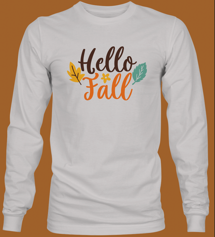Hello Fall Youth Long Sleeve T-Shirt