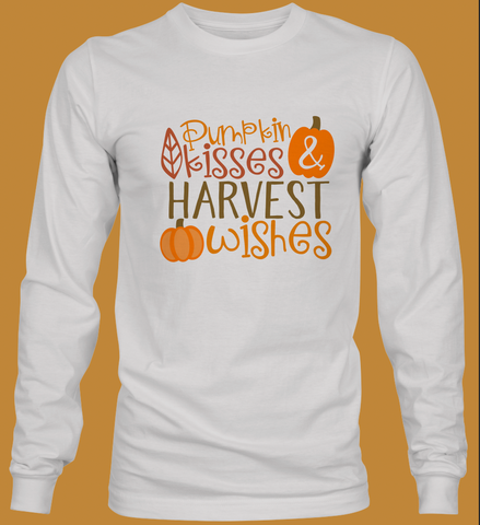 Pumpkin Kisses Youth Long Sleeve T-Shirt