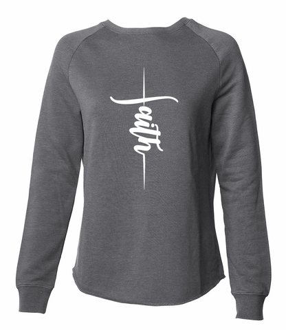 Vertical Faith Charcoal Sweatshirt