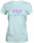 Jesus Over Everything -Blue & Pink T-Shirt