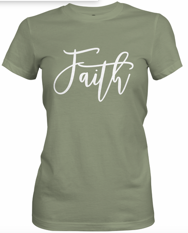 Faith- Olive Green T-Shirt