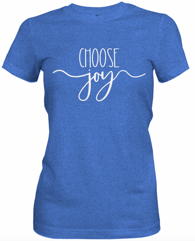Choose Joy Blue T-Shirt