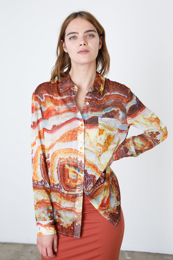 Future Ex-Boyfriend Shirt - Sliced Agate Solar Topaz