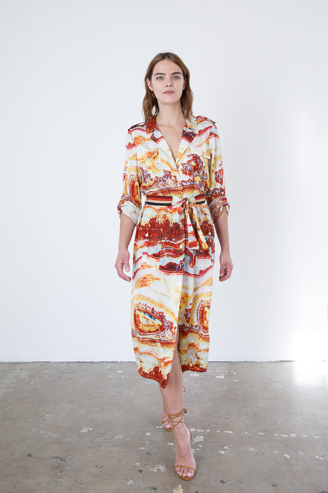 Sliced Agate Safari Dress