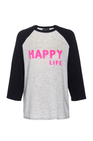 Happy Life Baseball Tee