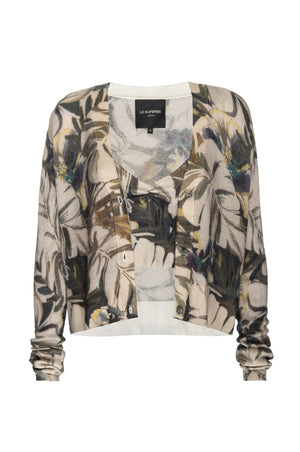 Paradise Floral Cropped Cashmere Cardi
