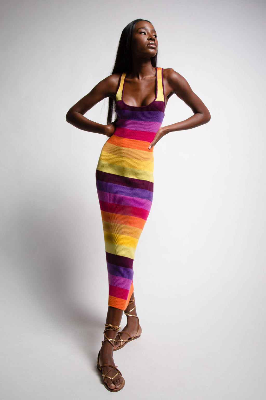 Prismatic Ribbed Dress
