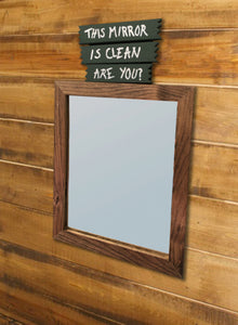 """This Mirror is Clean Are You?"" Mirror"