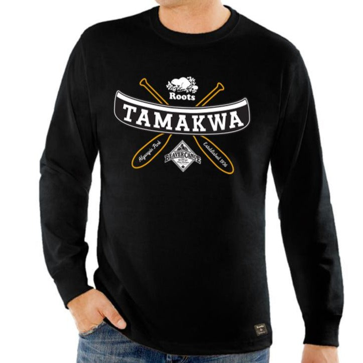 Mens Triple Logo Long Sleeve T-Shirt