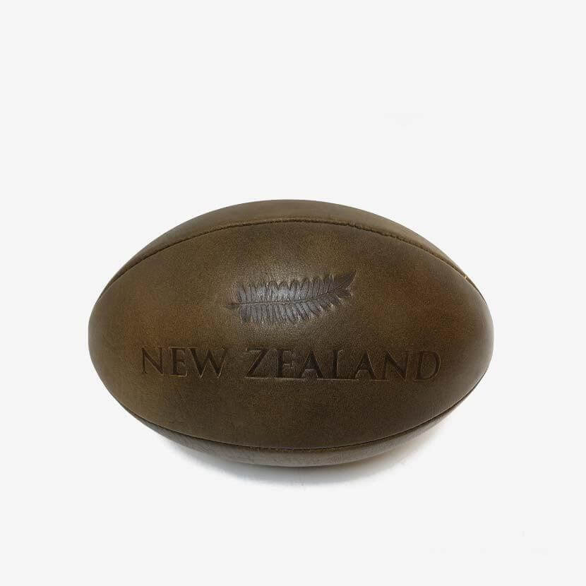 Ballon Cuir Rugby Vintage - Classic All Blacks