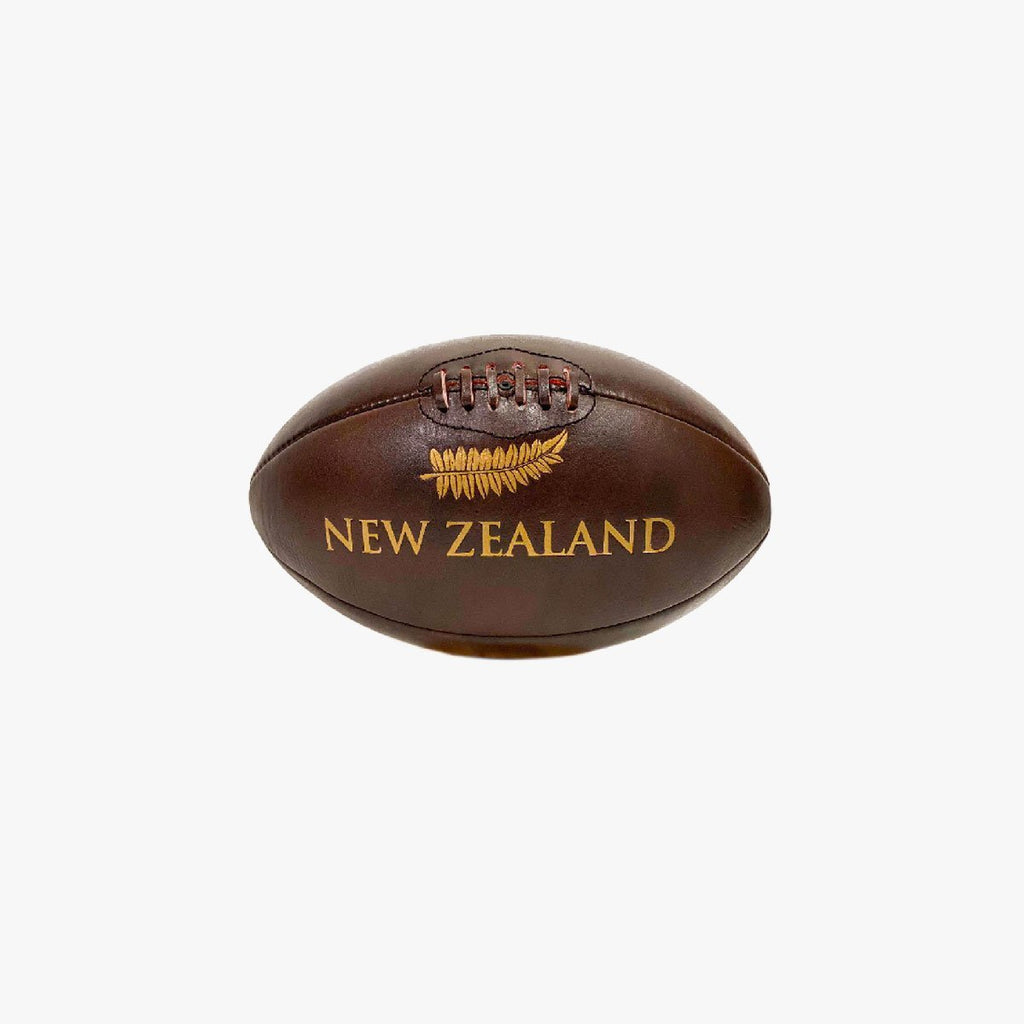 Mini Ballon Rugby Cuir Vintage - Classic All Blacks
