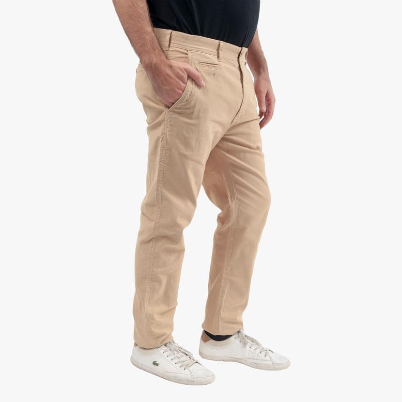 Pantalon Lifestyle Chino en Coton Ottoman - Beige - Classic All Blacks