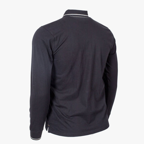 Polo Col Boutonné Noir - Classic All Blacks