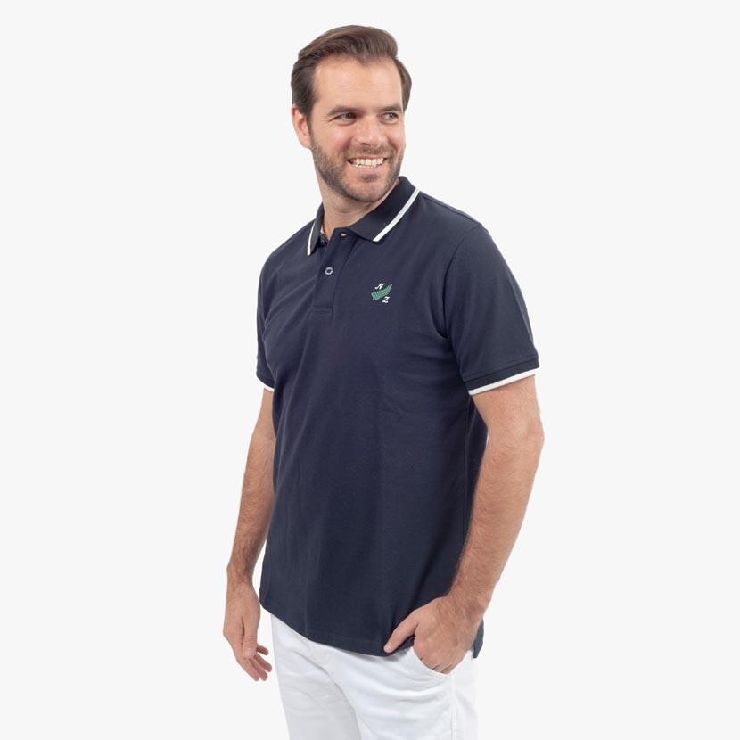 Polo en Coton Piqué - Bleu Marine - Classic All Blacks