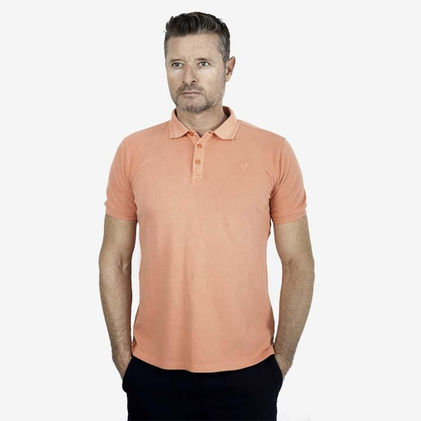 Polo manches courtes Fougère – Corail - Classic All Blacks