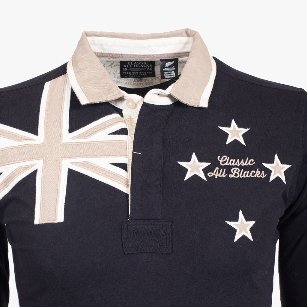 Polo Manches Longues New Zealand Flag - Classic All Blacks