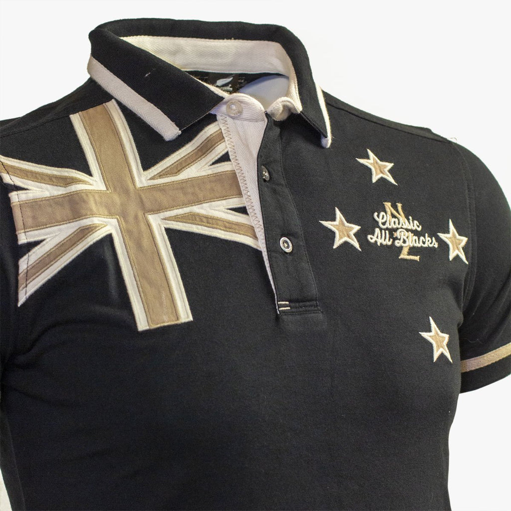 Polo New Zealand Flag - Classic All Blacks