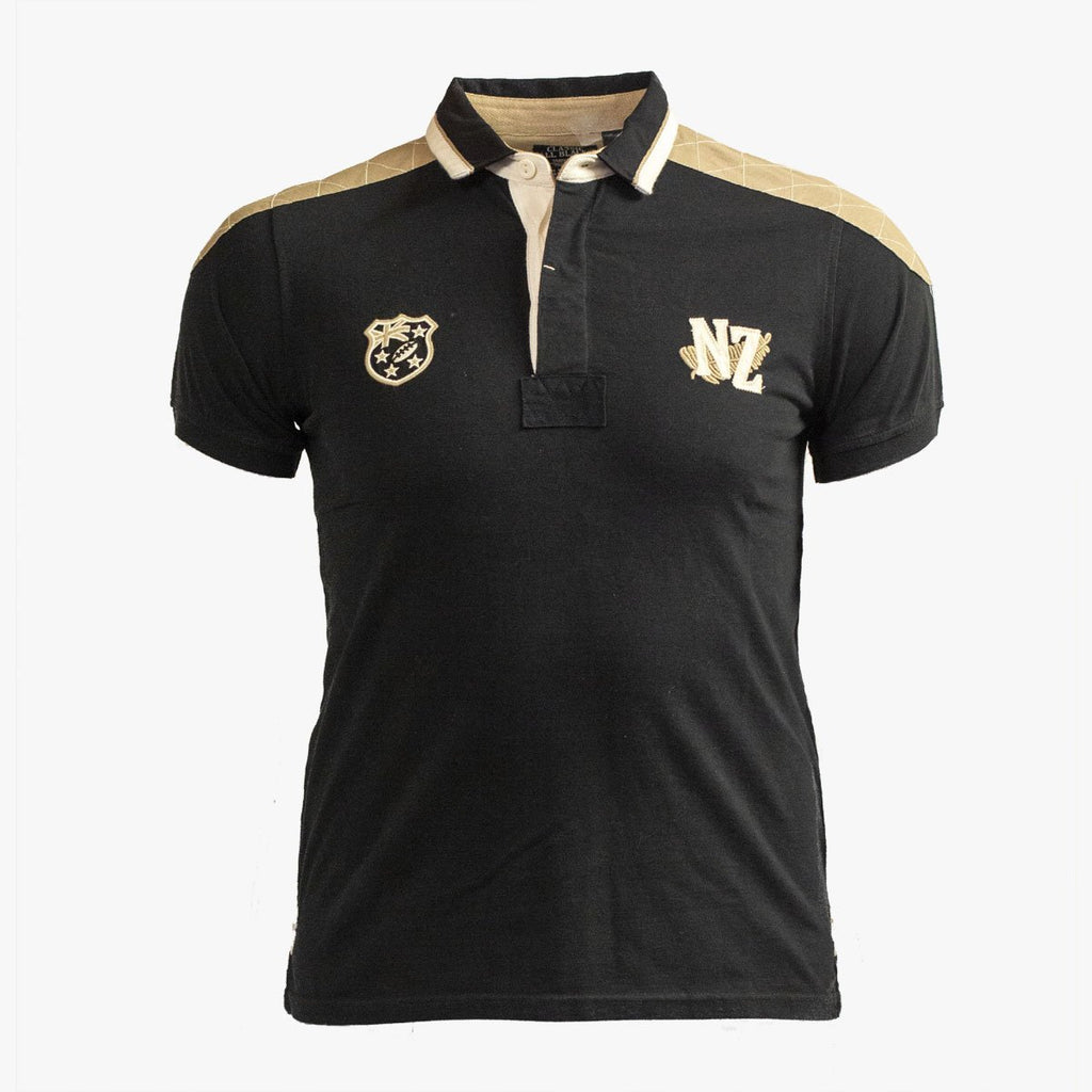 Polo Rugby Epaules Renforcées - Classic All Blacks