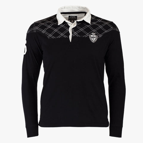 Polo Rugby Manches Longues - Noir - Classic All Blacks