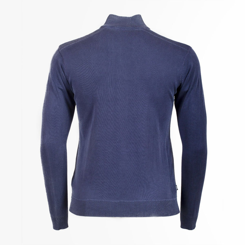 Pull Zippé en Coton - Bleu Marine - Classic All Blacks