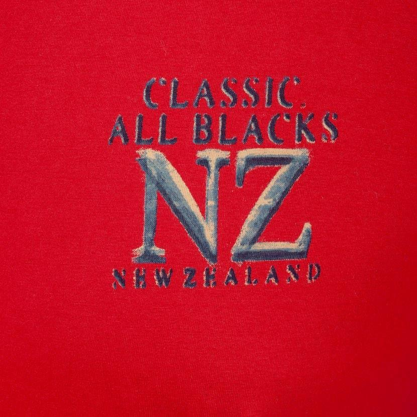 T-Shirt Col Rond Nouvelle Zélande - Rouge Piment - Classic All Blacks