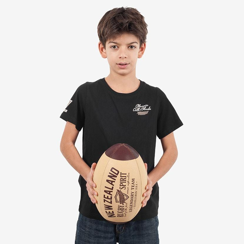 T-shirt junior manches courtes fougère – Noir - Classic All Blacks