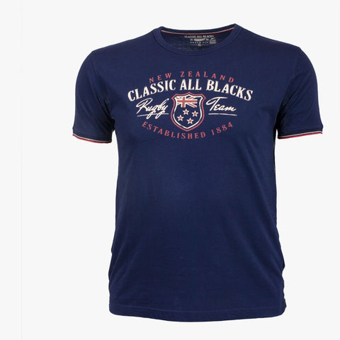 T-Shirt Rugby Team - Bleu Marine - Classic All Blacks