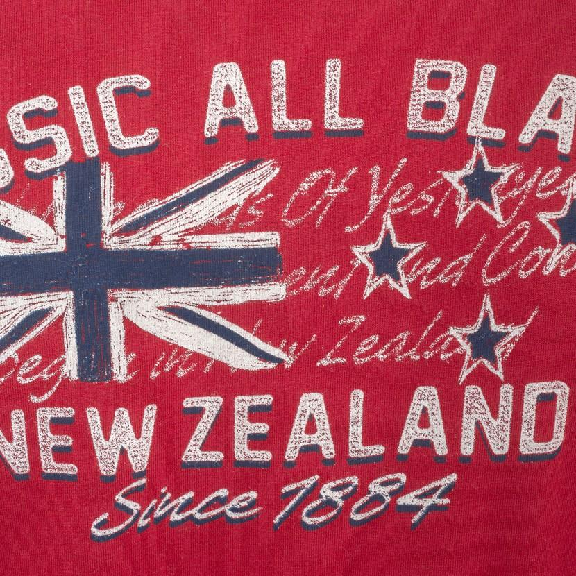 Tshirt Manches Longues Jersey - Rouge - Classic All Blacks