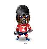 Bedwetting Beagle Mascot in Canadian team uniform