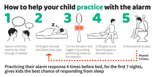 How to help your child practice with the alarm