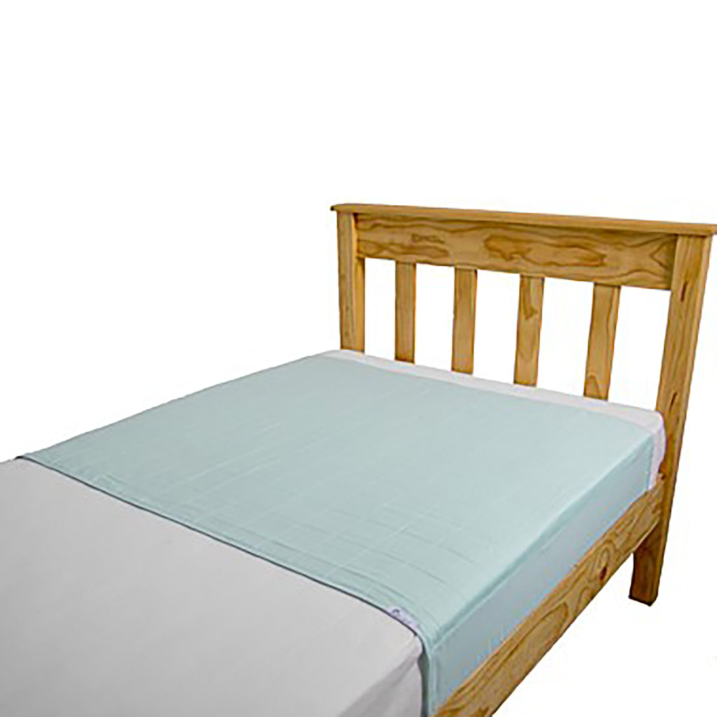 Brolly Sheet Bed Pad with Wings - King Single - Pale Mint