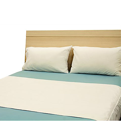 Brolly Sheet Bed Pad with Wings - Queen - White